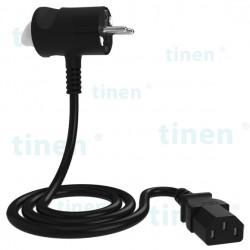Wtyczka Tinen z wtykiem C13, przewód: dł 1m